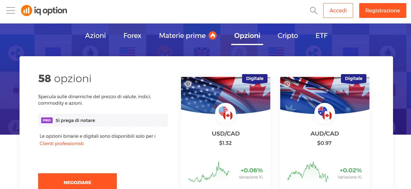 Fare trading in opzioni