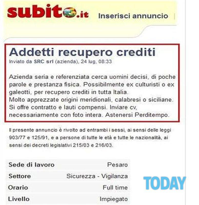 offerte di lavoro da casa recupero crediti