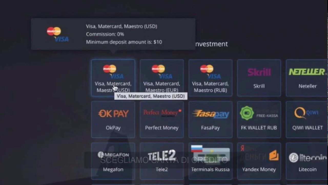 piattaforma per opzine binarie con 10 euro di deposito lavorare da casa per multinazionali