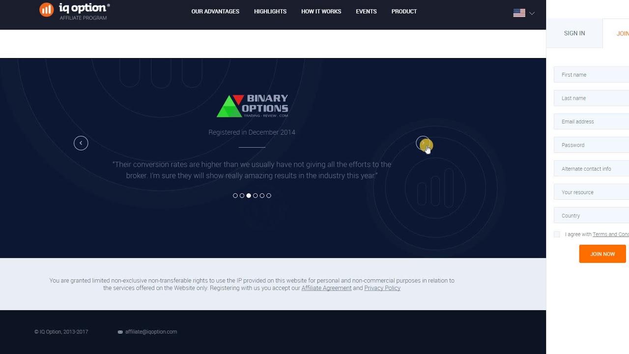binary option revenue share