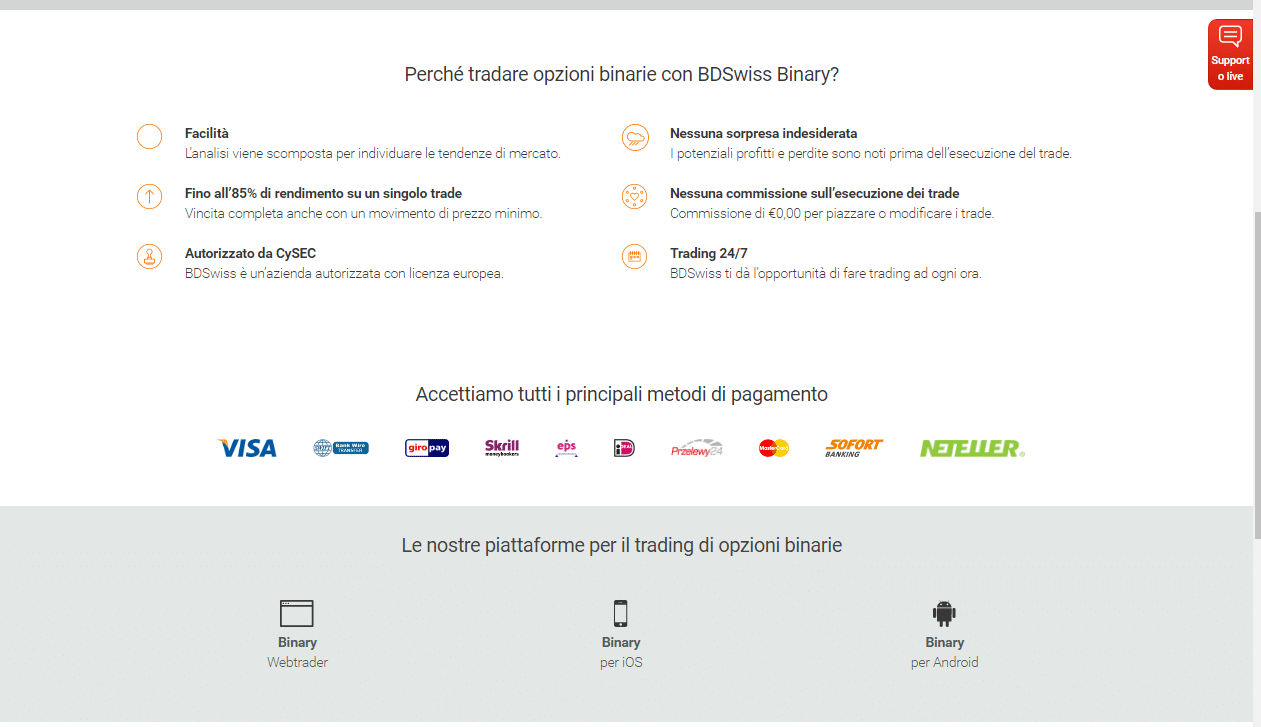 opzioni binarie telecomandate