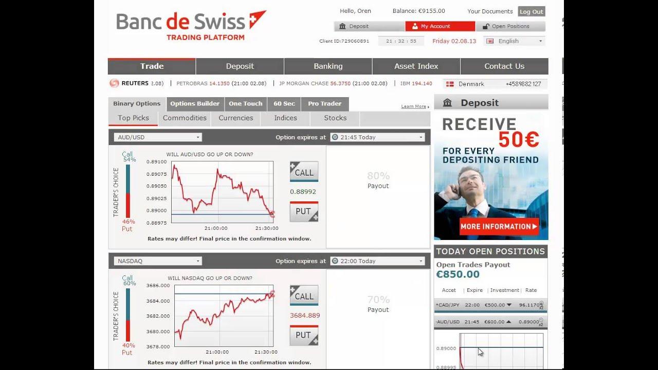 Banc de swiss opzioni binarie - Com www optionclick / Online-Demo Trading-Konten