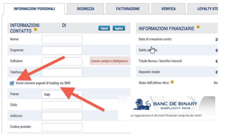 DEMO OPZIONI BINARIE -> Broker conto Demo, trading in Opzioni
