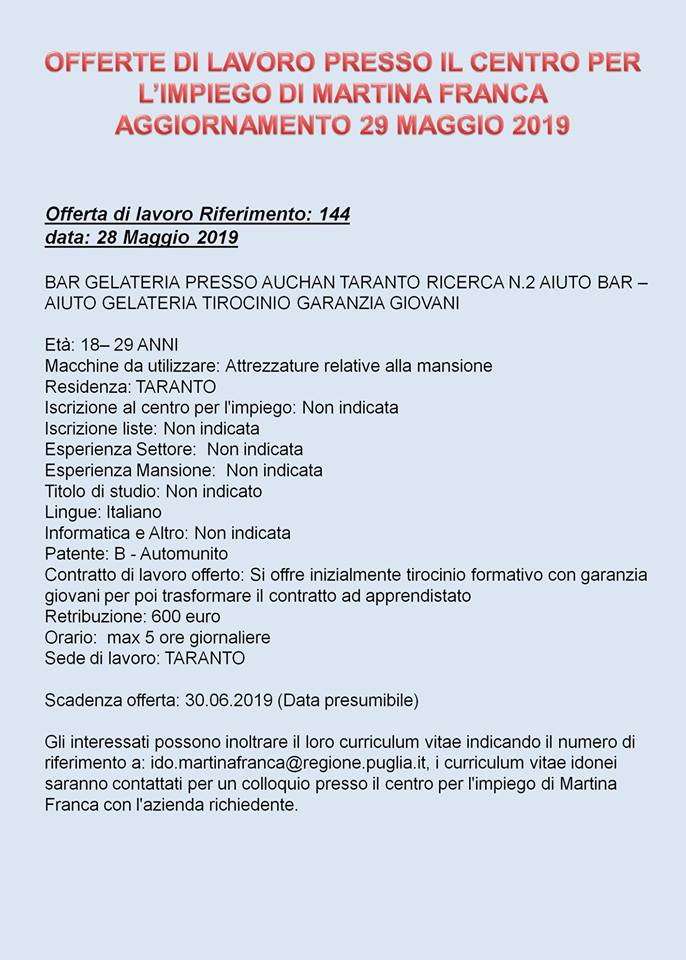 Lavoro Imbustamento casa Taranto
