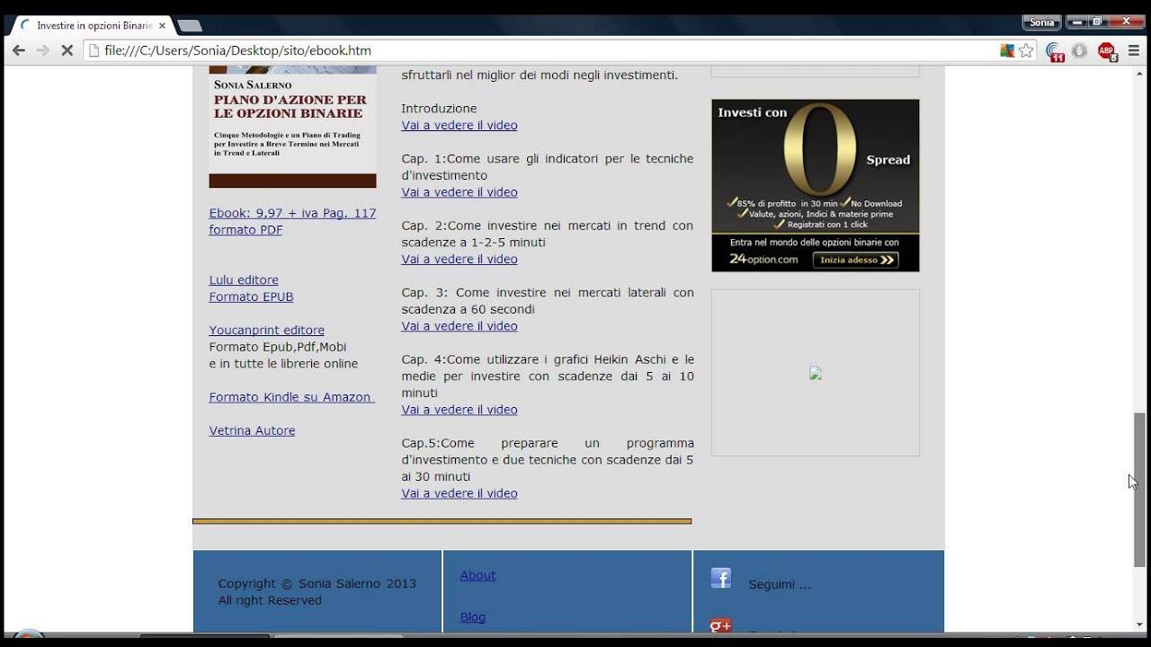 investire in opzioni binarie sonia salerno pdf download