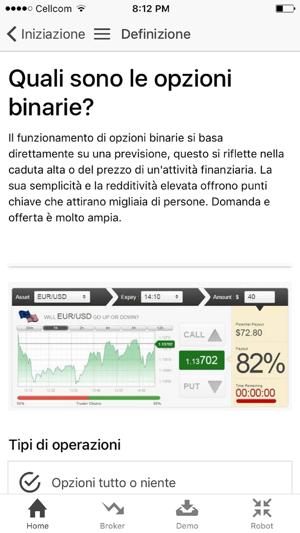 Opzioni Binarie Trading Italia su App Store