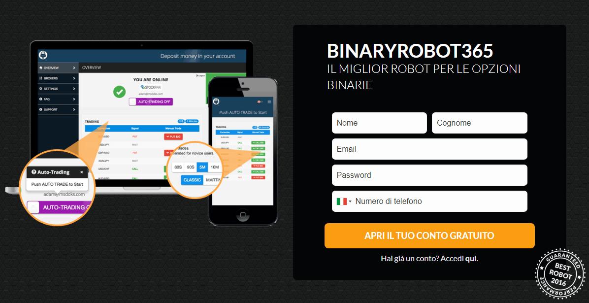 trovatuttonline.it opinioni recensioni e demo piattaforma Broker opzioni binarie - trovatuttonline.it
