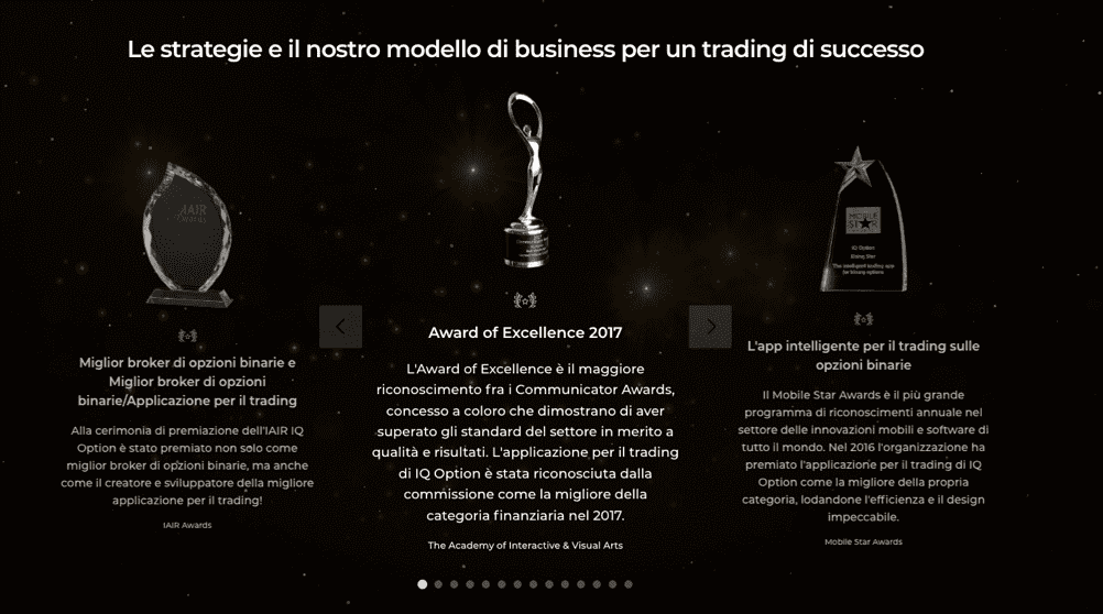 Opzioni binarie disponibili per clienti professionisti su IQ Option