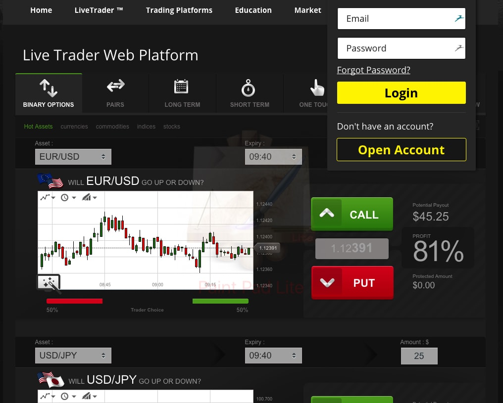 Www optionrally com login - trading automatico fineco