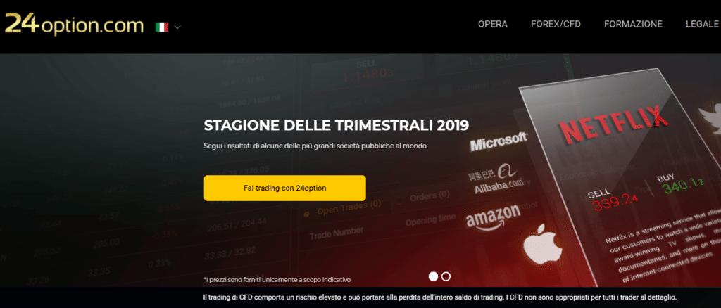 trading di opzioni binarie in italiano con postepay