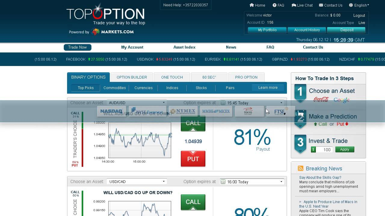 Www topoption com login - Forex binario conto demo