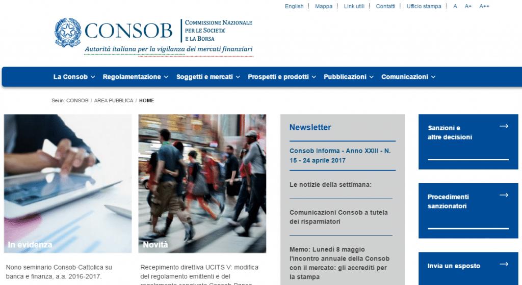 IQ Option CONSOB: broker registrato sull'albo della CONSOB